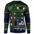 Utah Jazz NBA Patches Ugly Sweater by Klew