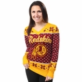 Washington Redskins Big Logo Women's V-Neck Ugly Sweater by Forever Collectibles
