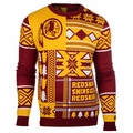 Washington Redskins Patches NFL Ugly Sweater by Klew