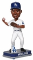 Yasiel Puig (Los Angeles Dodgers) Forever Collectibles 2014 MLB Springy Logo Base Bobblehead