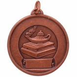 1-1/2 INCH MEDAL FOR IMPRINT, BRONZE