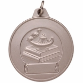 1-1/2 INCH MEDAL FOR IMPRINT, SILVER