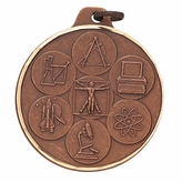 1-1/2 INCH SCIENCE MEDAL, BRONZE