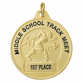 1-1/2 INCH TRACK GENERAL MALE MEDAL FOR IMPRINT