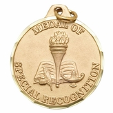 1 1/4 INCH ACADEMIC TEAM AWARD MEDAL, GOLD