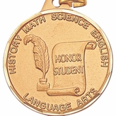 1 1/4 INCH HONOR STUDENT MEDAL, GOLD