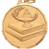 1 1/4 INCH LAMP OF LEARNING MEDAL - MULTIPLE COLORS