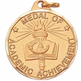 1 1/4 INCH MEDAL OF ACADEMIC ACHIEVEMENT