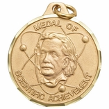 1 1/4 INCH MEDAL OF SCIENTIFIC ACHIEVEMENT - MULTIPLE COLORS