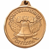 1-1/4 INCH OUTSTANDING CITIZEN MEDAL - MULTIPLE COLORS