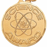 1 1/4 INCH SCIENCE AWARD MEDAL - MULTIPLE COLORS