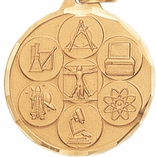 1 1/4 INCH SCIENCE GENERAL MEDAL - MULTIPLE COLORS