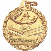 1-1/8 INCH MEDAL, ATTENDANCE