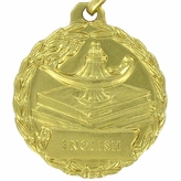 1-1/8 INCH MEDAL, ENGLISH
