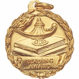 1-1/8 INCH MEDAL, READING AWARD