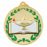 2-1/2 INCH DIE CAST ENAMELED MEDAL - MULTIPLE COLORS