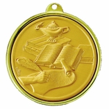 2-1/4 INCH MEDAL ACADEMIC ACHIEVEMENT - MULTIPLE COLORS