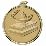 2-1/4 INCH MEDAL LAMP OF LEARNING - MULTIPLE COLORS