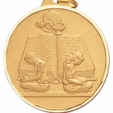 2 INCH READING, DIAMOND CUT BORDER MEDAL - MULTIPLE COLORS