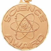 2 INCH SCIENCE AWARD MEDAL - MULTIPLE COLORS