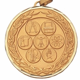 2 INCH SCIENCE GENERAL MEDAL - MULTIPLE COLORS