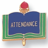 ATTENDANCE PIN ENAMELED, GOLD