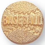 BASEBALL CHENILLE PIN GOLD