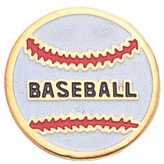 BASEBALL ENAMELED PIN GOLD