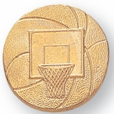 BASKETBALL AND NET CHENILLE PIN