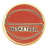 BASKETBALL ENAMELED PIN GOLD