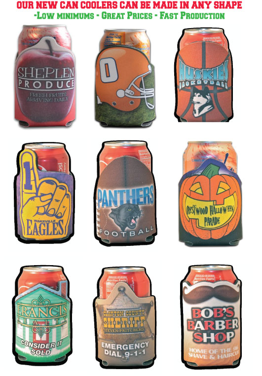Custom Shaped Can Cooler