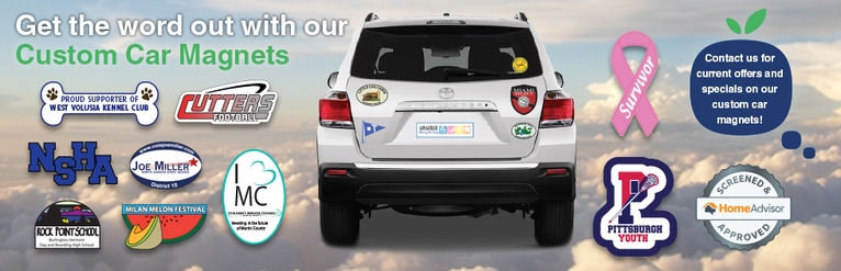 Car Magnets And Decals - Car magnets for sport fundraiser