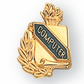 COMPUTER PIN GOLD ENAMELED