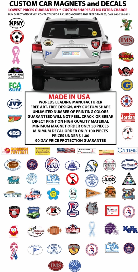Custom Car Magnets And Decals - Custom car magnet cheap