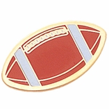 FOOTBALL ENAMELED PIN GOLD