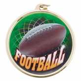 FOOTBALL MEDAL WITH 2 INCH MYLAR
