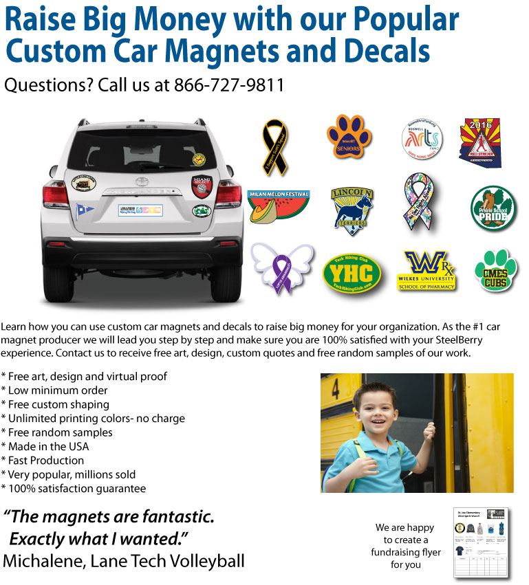 Fundraising car magnets