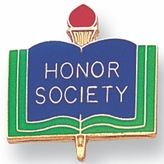 HONOR SOCIETY PIN ENAMELED