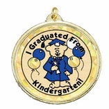 I GRADUATED FROM KINDERGARTEN MYLAR MEDAL