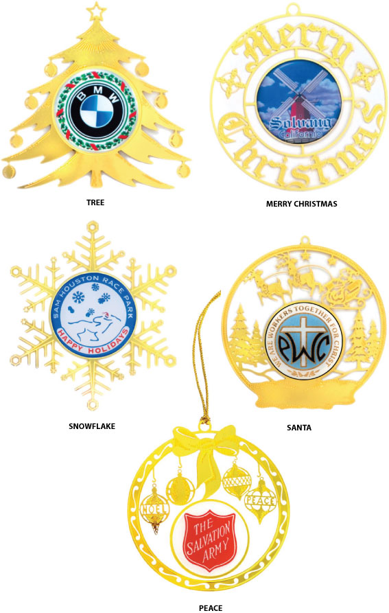 In Stock Etched Ornament with Custom Center