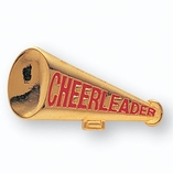 MEGAPHONE PIN CHEERLEADER