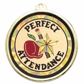 PERFECT ATTENDANCE MYLAR MEDAL