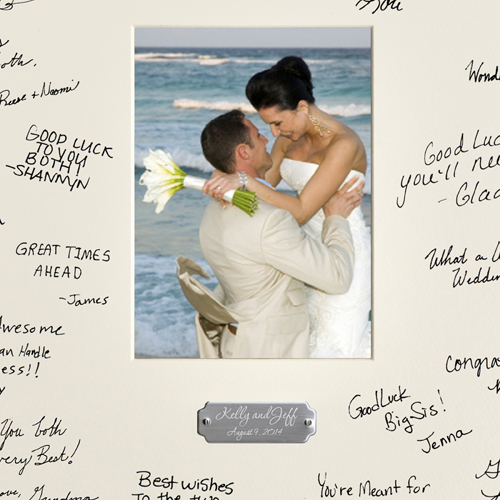 personalized wedding wishes signature autograph frame with