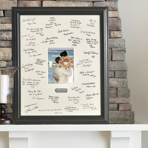 Personalized Wedding Wishes Signature - Autograph Frame with ...