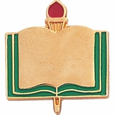 PLAIN BOOK PIN GOLD