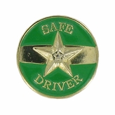 SAFE DRIVER STAR PIN, GOLD