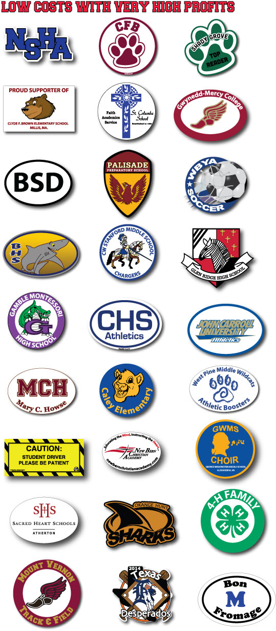School Car Magnets - Car magnets for sport fundraiser