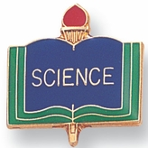 SCIENCE PIN ENAMELED, GOLD