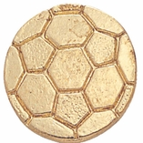 SOCCER CHENILLE PIN GOLD