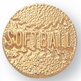 SOFTBALL CHENILLE PIN GOLD